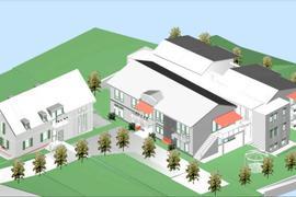 """So soll es einmal aussehen: Das Hospiz """"Arista Nord"""", das jetzt in der Bruchsaler Tunnelstraße gebaut wird."""