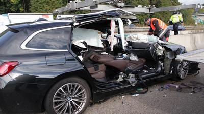 Bei dem Auffahrunfall auf der A5 bei Bruchsal wurde eine Person verletzt.
