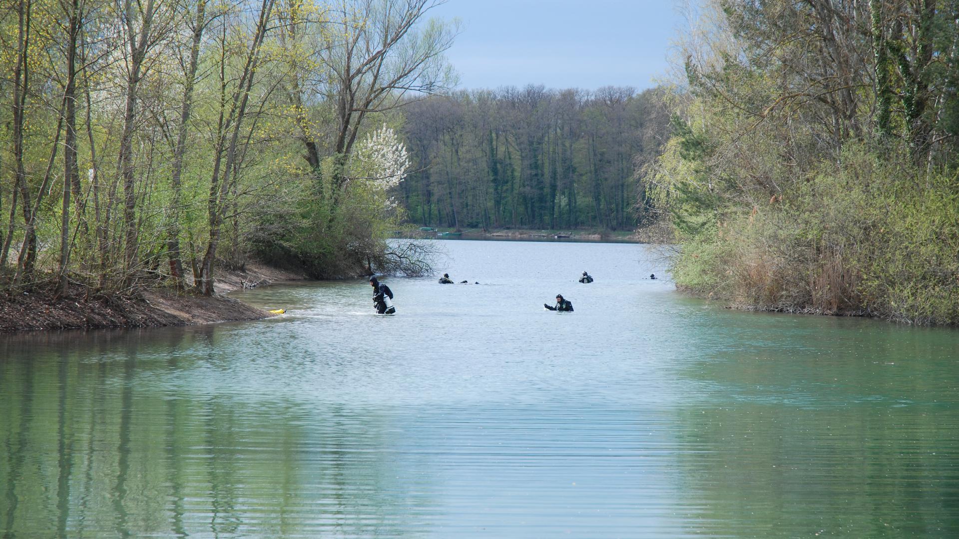 Taucherparadies: So sieht das aus, wenn am Untergrombacher Baggersee getaucht wird.
