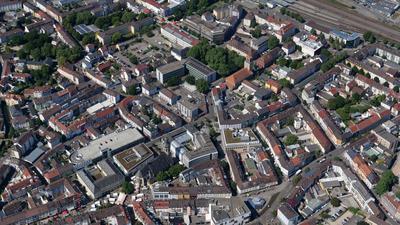 Bruchsal Innenstadt Luftbild vom 16.05.2020 Peter Sandbiller Luftbruchsal