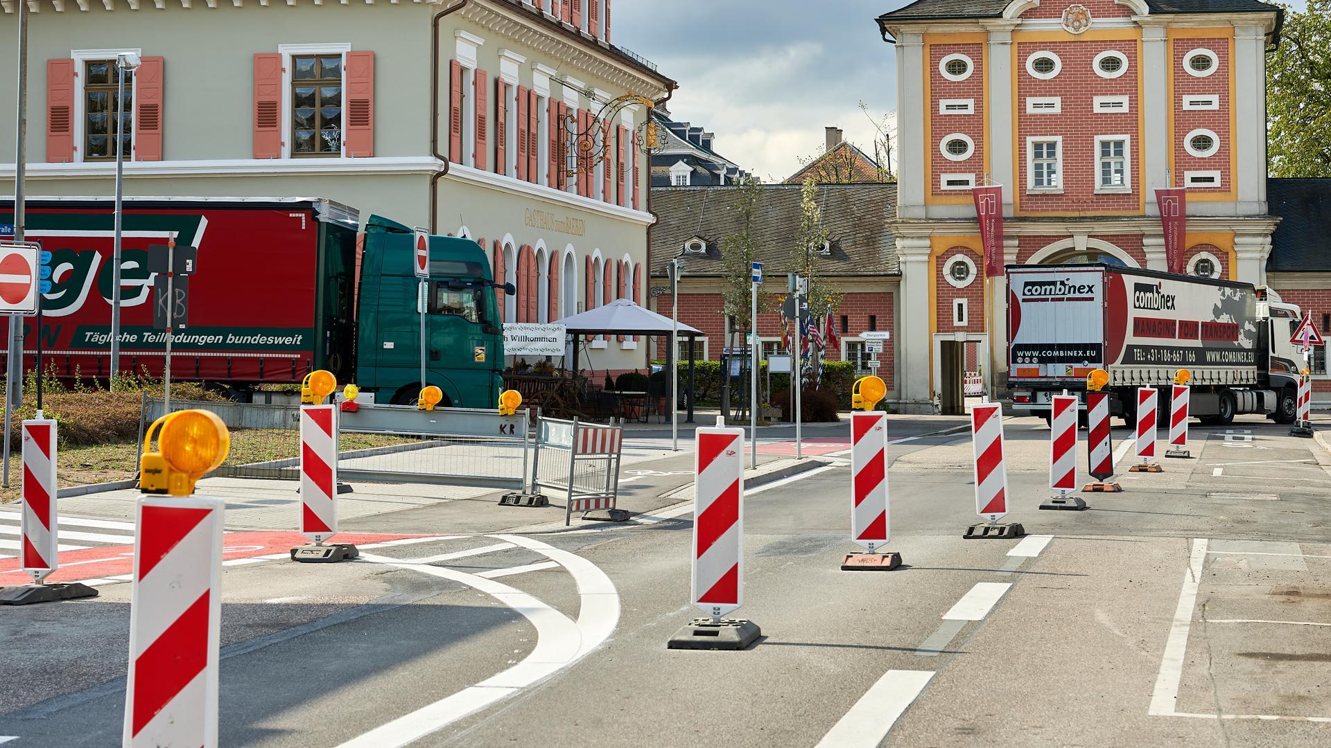Verkehrssituation Baustellenbereich nördlich Schlossgarten
