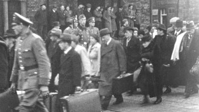 Filmausschnitt: Deportation der Bruchsaler Juden nach Gurs