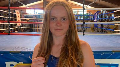 Charlotte Rötten nach dem Training bei den Pugilisten in Bruchsal