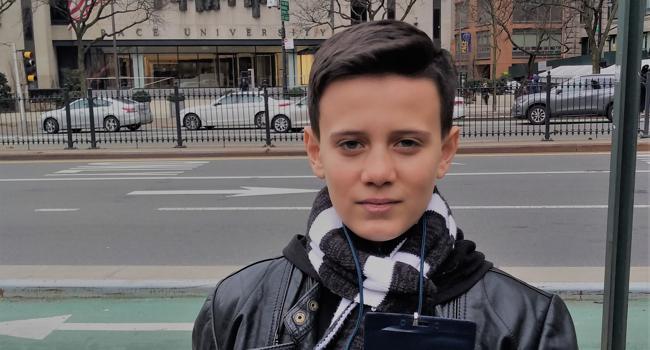 Ein Junge in NY