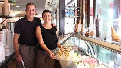Luana Salvador und Ruggero Vizzotto (Inhaber von Gran Caffé in Bruchsal).