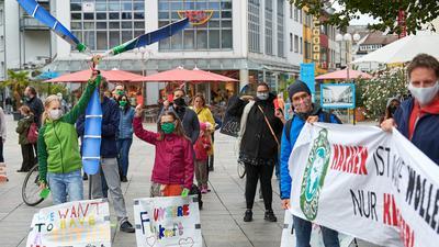 Klimastreik friday for future Marktplatz Bruchsl