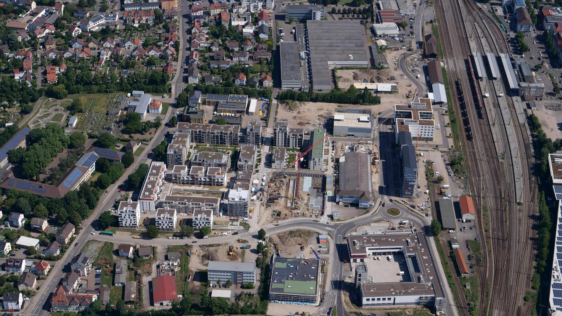 Bruchsal Bahnstadt Luftbild vom 16.05.2020 Peter Sandbiller Luftbruchsal
