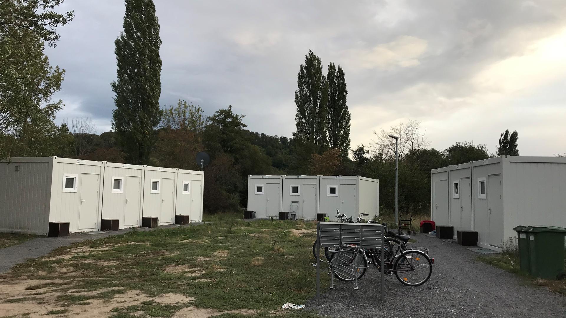 Nur ein Provisorium: Diese Container für Obdachlose in der Bruchsaler Südstadt sollen weichen, wenn die neuen Container in Untergrombach aufgebaut werden.