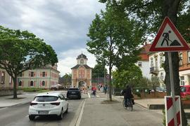 Radweg an der Schönbornstraße Richtung Damianstor.