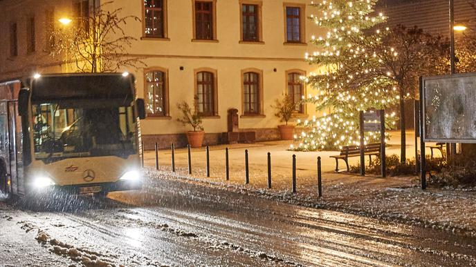 Bruchsal-Helmsheim am frühen Dienstagmorgen.