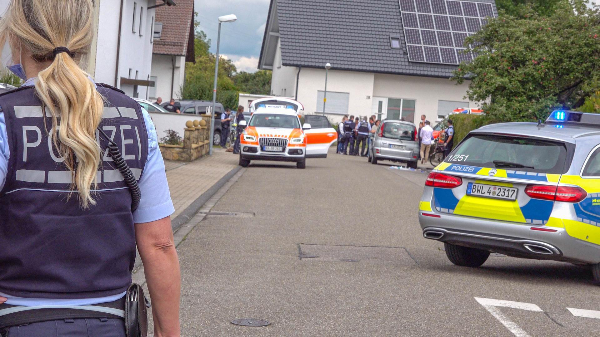 Einsatz wegen erschossenem Mann in der Wilare Straße in Ubstadt-Weiher