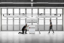 Per Lastendrohne zum Ziel: In Bruchsal soll eine Teststrecke für die autonomen Fluggeräte der Firma Volocopter entstehen. Ein Konsortium bewirbt sich um Fördermittel.