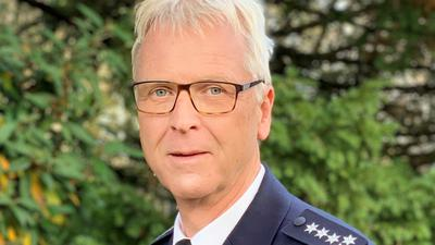 Gerd Volland ist Leiter des Polizeireviers Bad Schönborn und geht Ende November in Ruhestand.