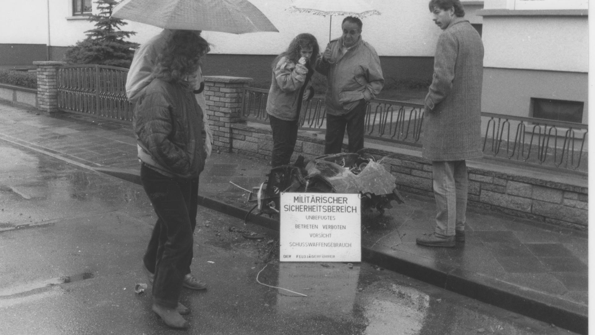 Trümmer Absturz Forst 1988