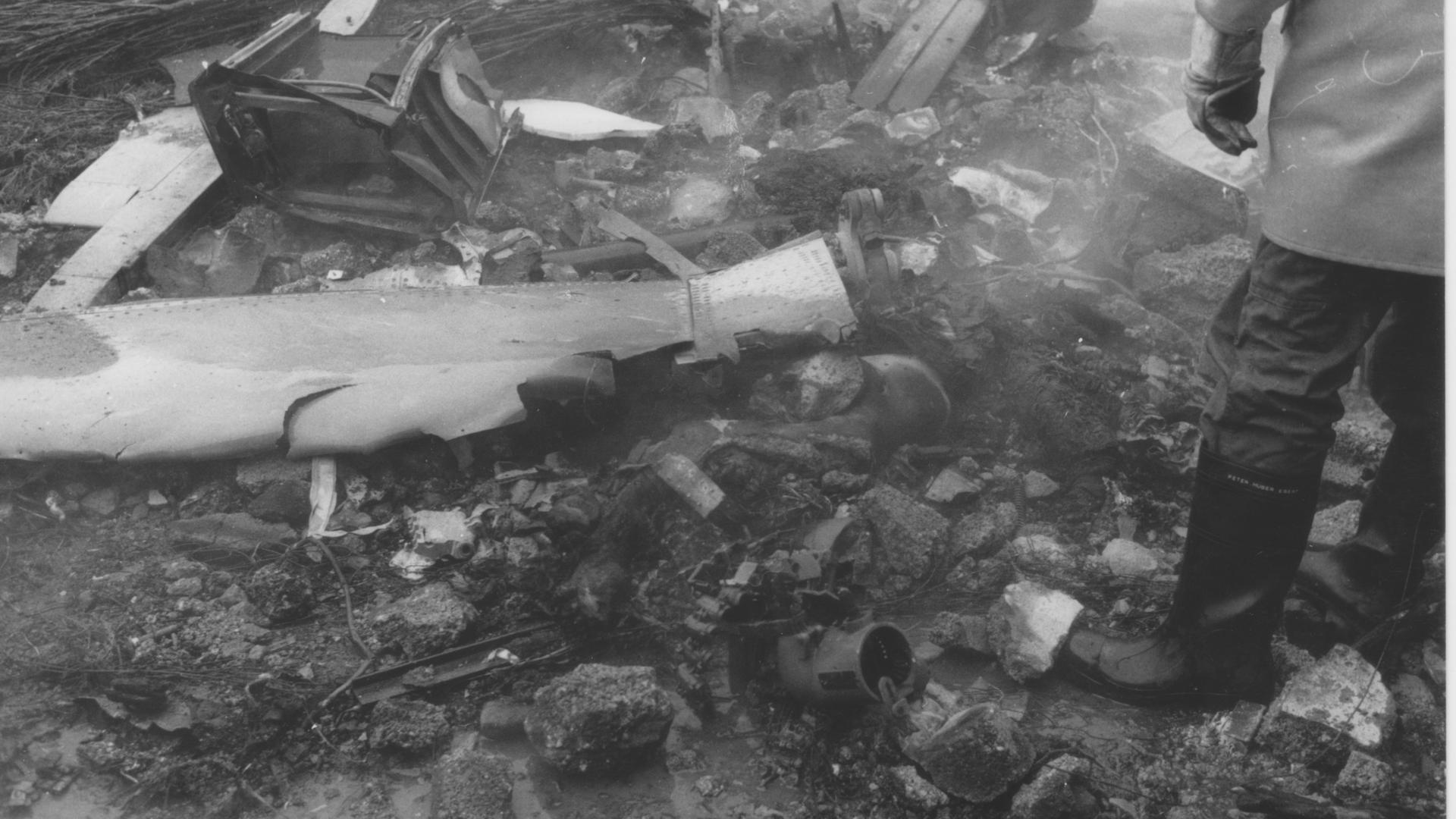 Trümmerteile Absturz Forst 1988