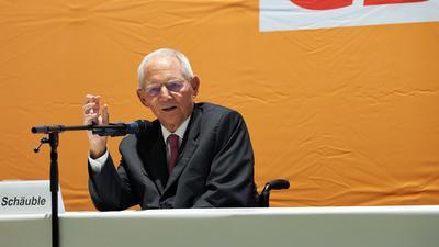CDU Wolfgang Schäuble Altenbürghalle