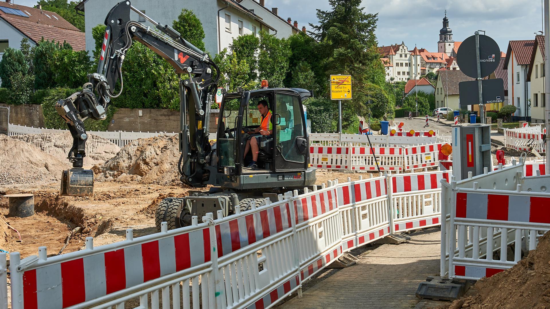 Baustelle Straßensanierung Gochsheim