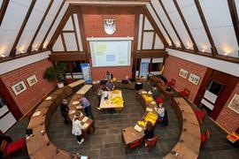 Sitzungssaal von oben