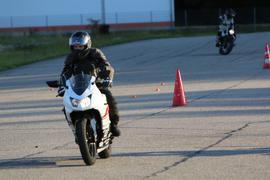 Zwei Motorradfahrer