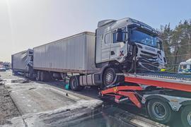 Lastwagen Unfall A5