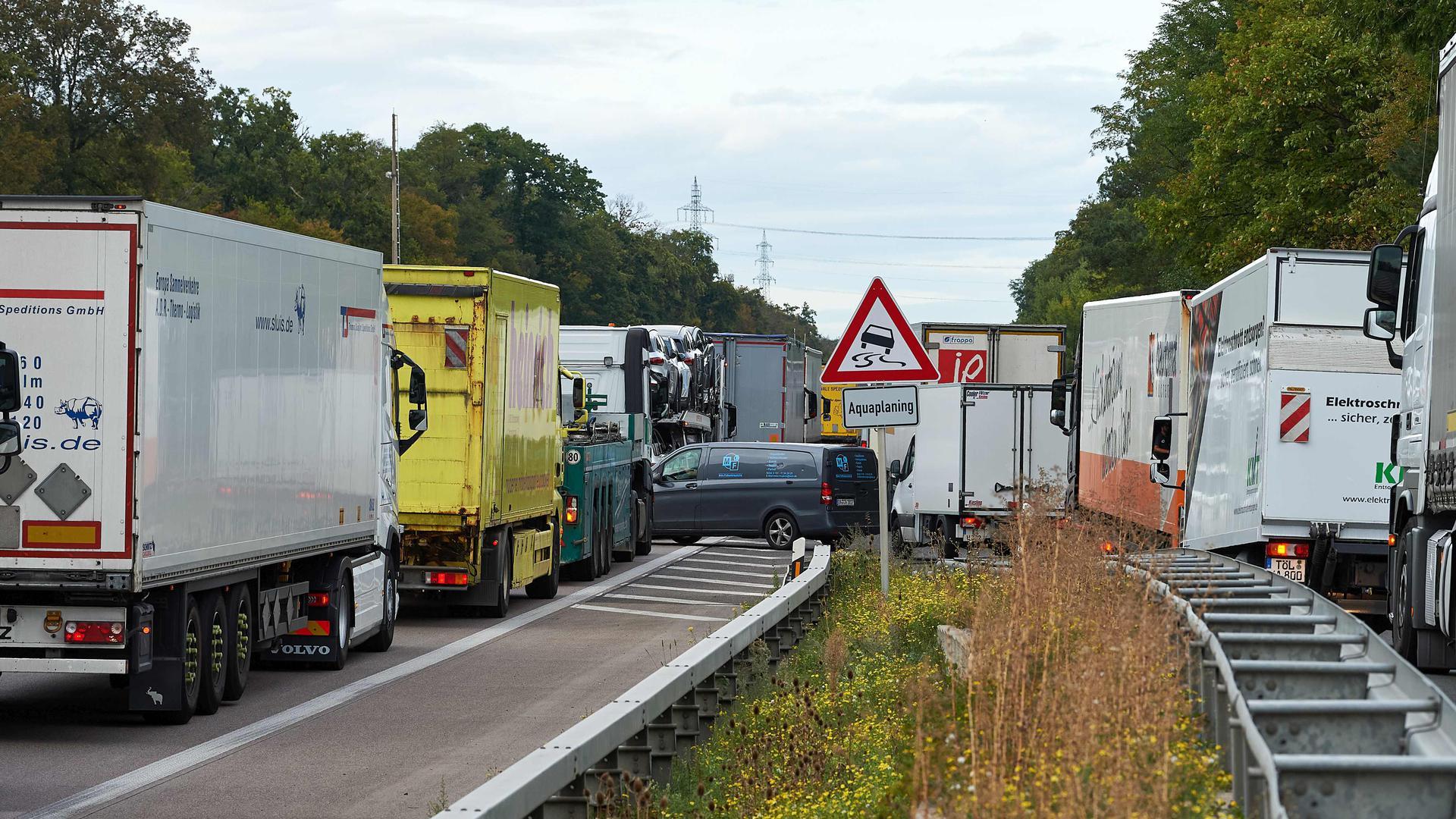 Verkehrssituation Autobahn A5
