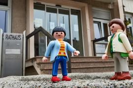Rathaus Oberhausen Playmobilmännchen