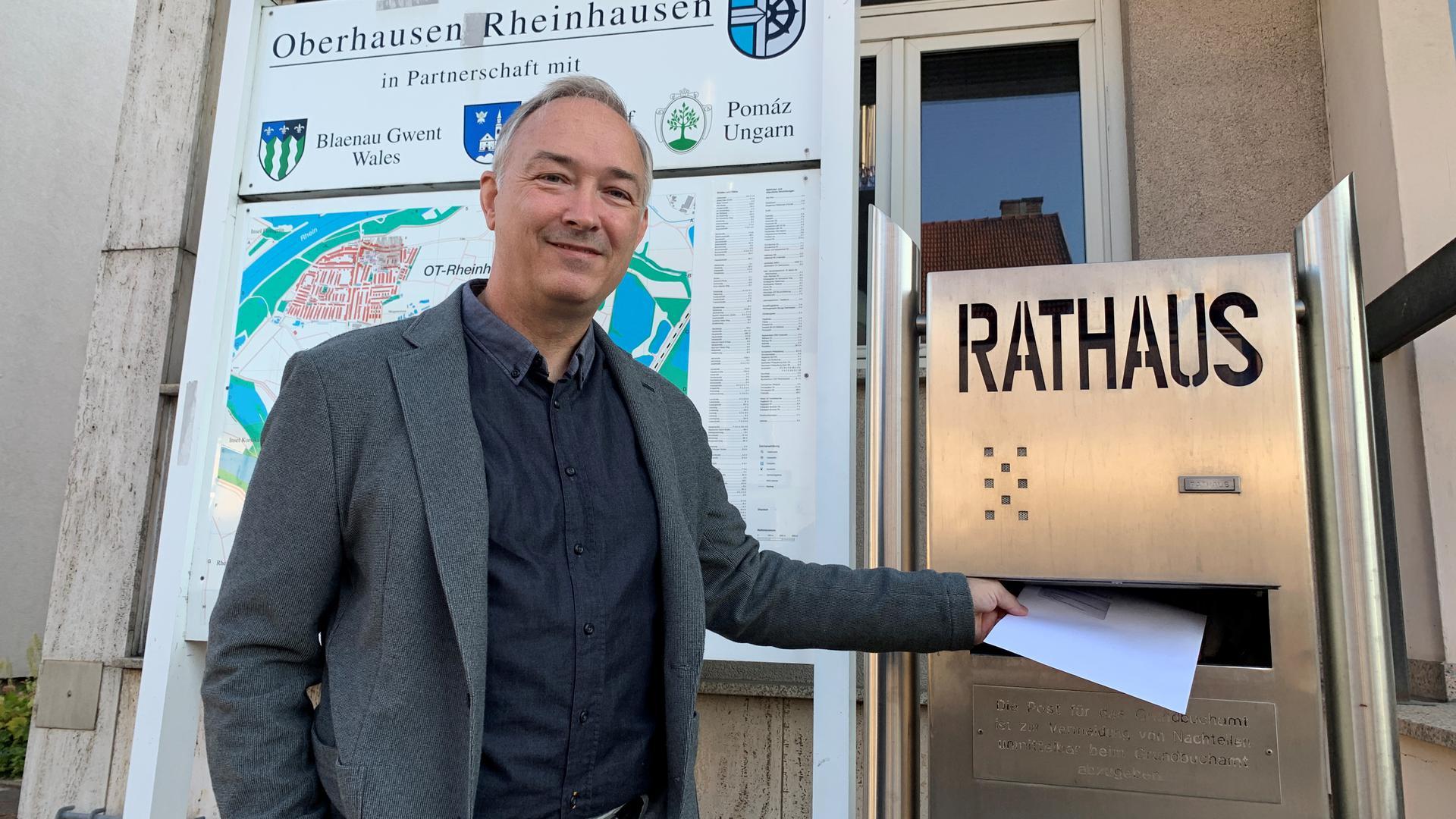 Bürgermeisterwahl 2021 Oberhausen-Rheinhausen, Dirk Vogel, parteilos
