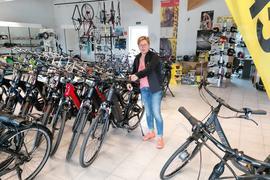 Andrea Maier im Oberhausener Radsporthaus