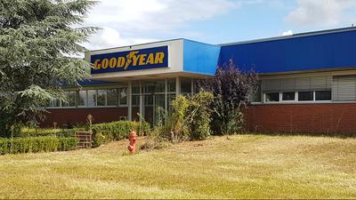 Altes Goodyear-Gelände - Noch vorhandenes Logo