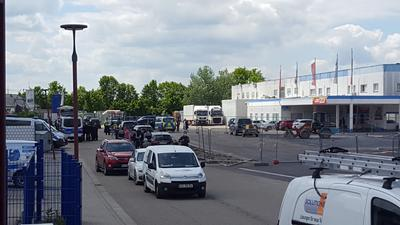 Supermarkt Huttenheim Einsat Polizei