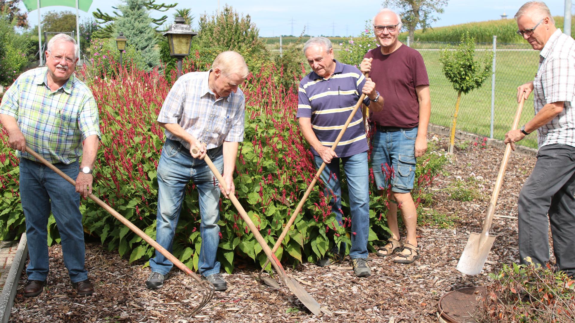 Die Experten des Obst- und Gartenbauvereins Wiesental verzichten schon lange auf Glyphosal und bekämpfen die Unkräuter mit Spaten und Hacke.