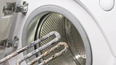 Verkalkte Waschmaschine