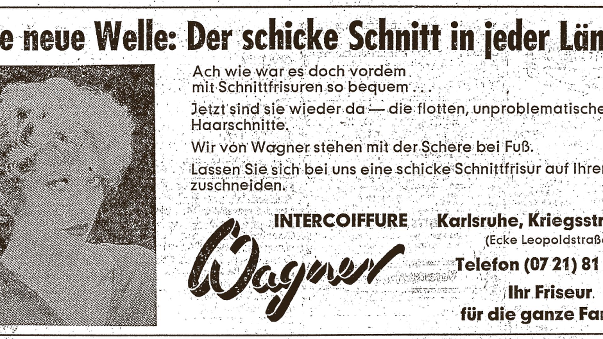 Alte Anzeige von 1980-03-01 / Dauerwelle Wagner