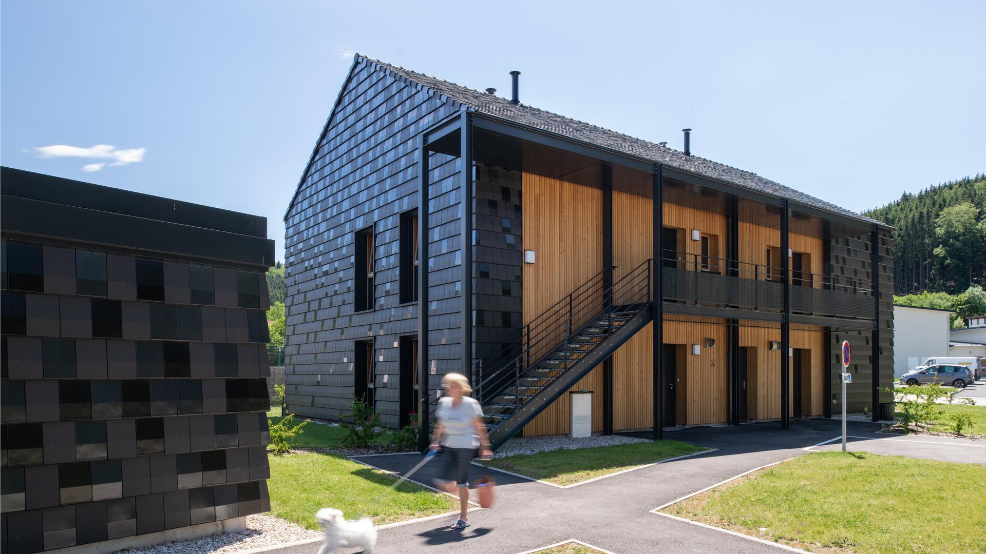 Gebaut mit Naturmaterialien: ein Wohnhaus in Plainfaing in den Vogesen.