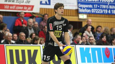 Talentierter Newcomer: In der Saison 2010/11 gehörte Benjamin Dollhofer in der Schwarzwaldhalle zum Stammpersonal des Volleyball-Bundesligisten TV Bühl.