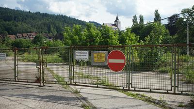 Der Eingangsbereich zum Pfleiderer-Areal in Gernsbach.