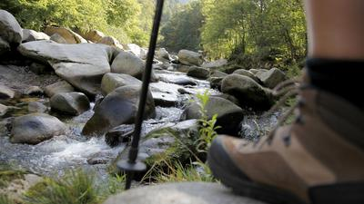 Über Stock und Stein: Eine Flussbettwanderung in der Murg ist ein Riesenvergnügen für die ganze Familie – auch wenn manch Untrainierter die Wanderung mit ordentlich Muskelkater bezahlt.