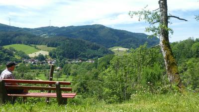 Gutachtal und Gutach mit Schwarzwaldlandschaft