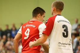 Aus zwei mach' eins: In der Saison 2018/19 spielten der Ottersweierer Marcel Röll (links) und der Großweierer Luca Herrmann gegeneinander, in der nächsten Runde ist man gemeinsam am Ball.