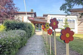 Der Eingangsbereich eines Kindergartens.