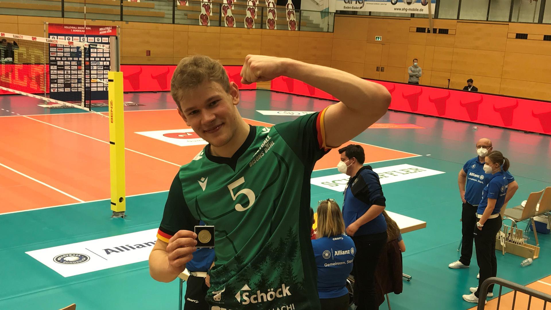 Überragende Vorstellung: Der Bühler Simon Gallas war im ersten Play-off-Spiel der Matchwinner.