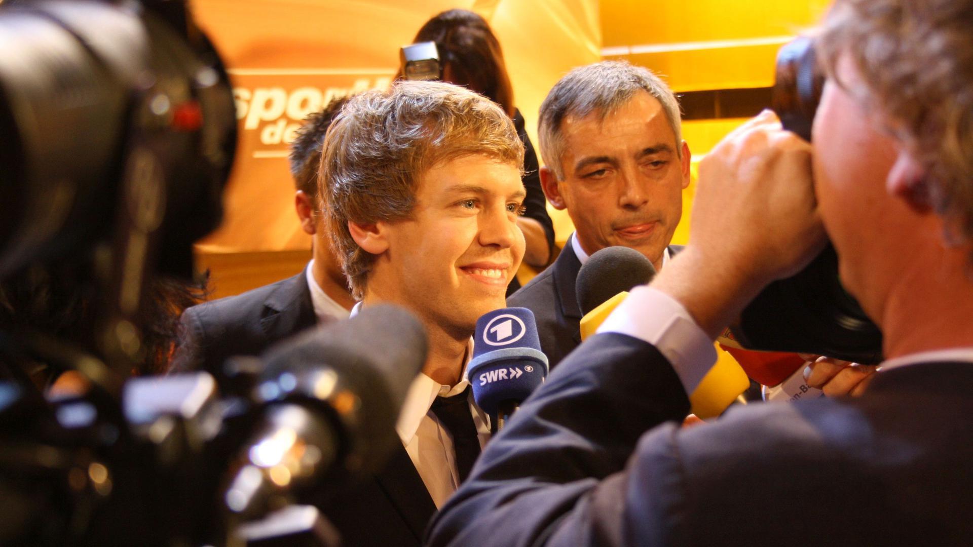 Sebastian Vettel bei der Wahl zum Sportler des Jahres 2010 in Baden-Baden