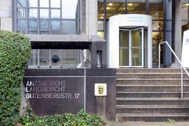 Aussenansicht des Landgerichts Baden-Baden.