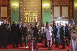 Rund 300 Gäste kamen zu der Verleihung im Kurhaus. Es war das erste größere gesellschaftliche Event seit Ausbruch der Corona-Pandemie.