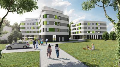 Visualisierung für Projekt Service-Appartements Rheinstraße 195 Baden-Baden