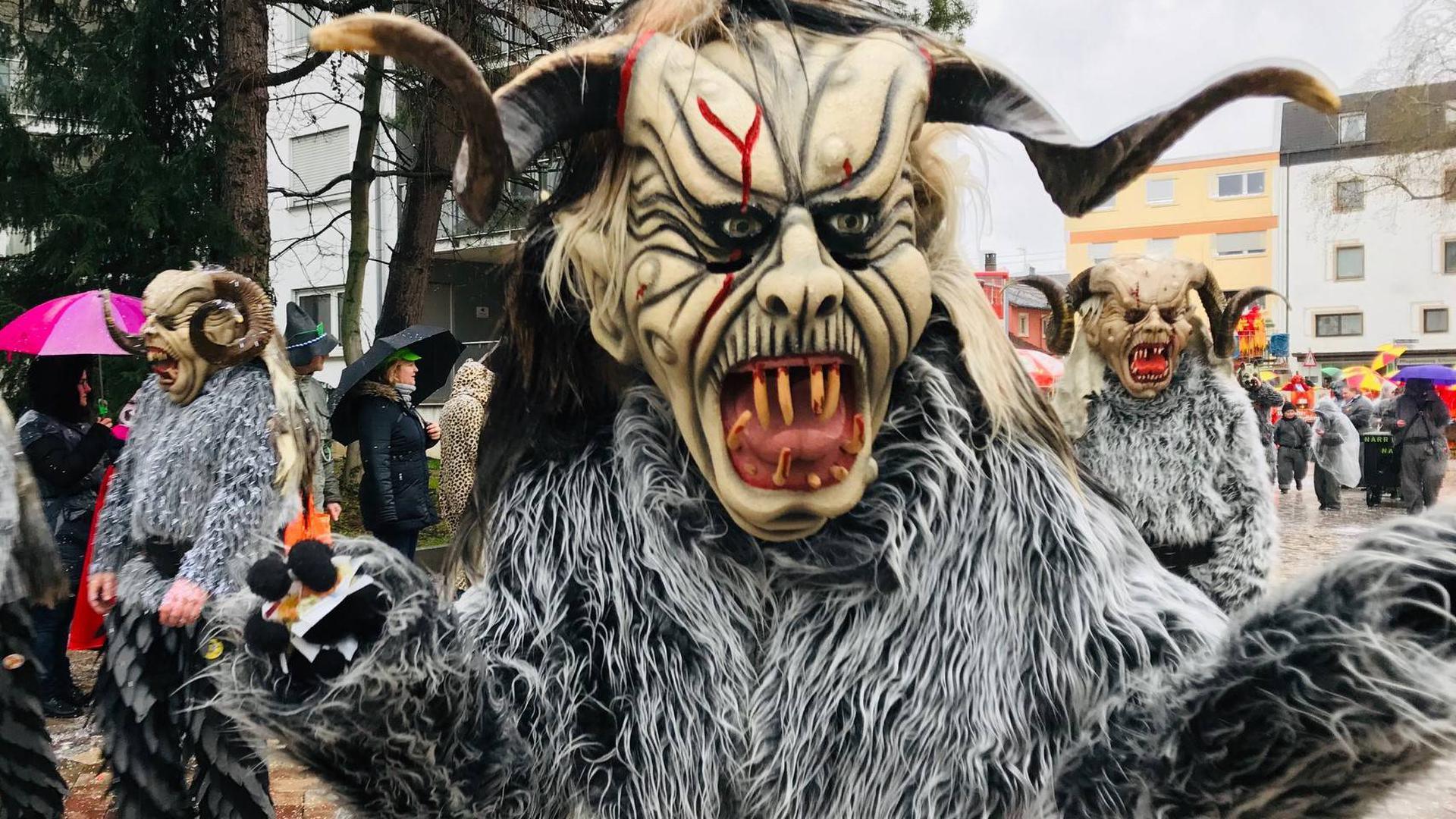 Maske Maskenträger, Fastnacht Fasching, Fasnet, Umzug Baden-Oos, Fastnachtsumzug