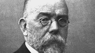 Der deutsche Bakteriologe Robert Koch (undatiertes Archivbild) entdeckte 1882 das Tuberkulosebakterium und ein Jahr später den Erreger der Cholera. Als Begründer der modernen Bakteriologie wurde er 1905 mit dem Nobelpreis für Medizin ausgezeichnet. Robert Koch wurde am 11. Dezember 1843 in Clausthal geboren und ist am 27. Mai 1910 in Baden-Baden gestorben.  dpa (Nur s/w) |
