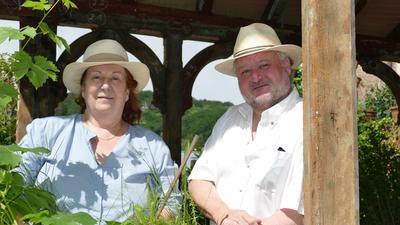 Cornelia Bitsch und Matthias Schulz proben bereits für die Saison 2022 des Sommertheaters im Baldreit.