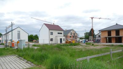 Die Bauherren sind im Gebiet Stöcke Nord  in Sandweier bereits fleißig.