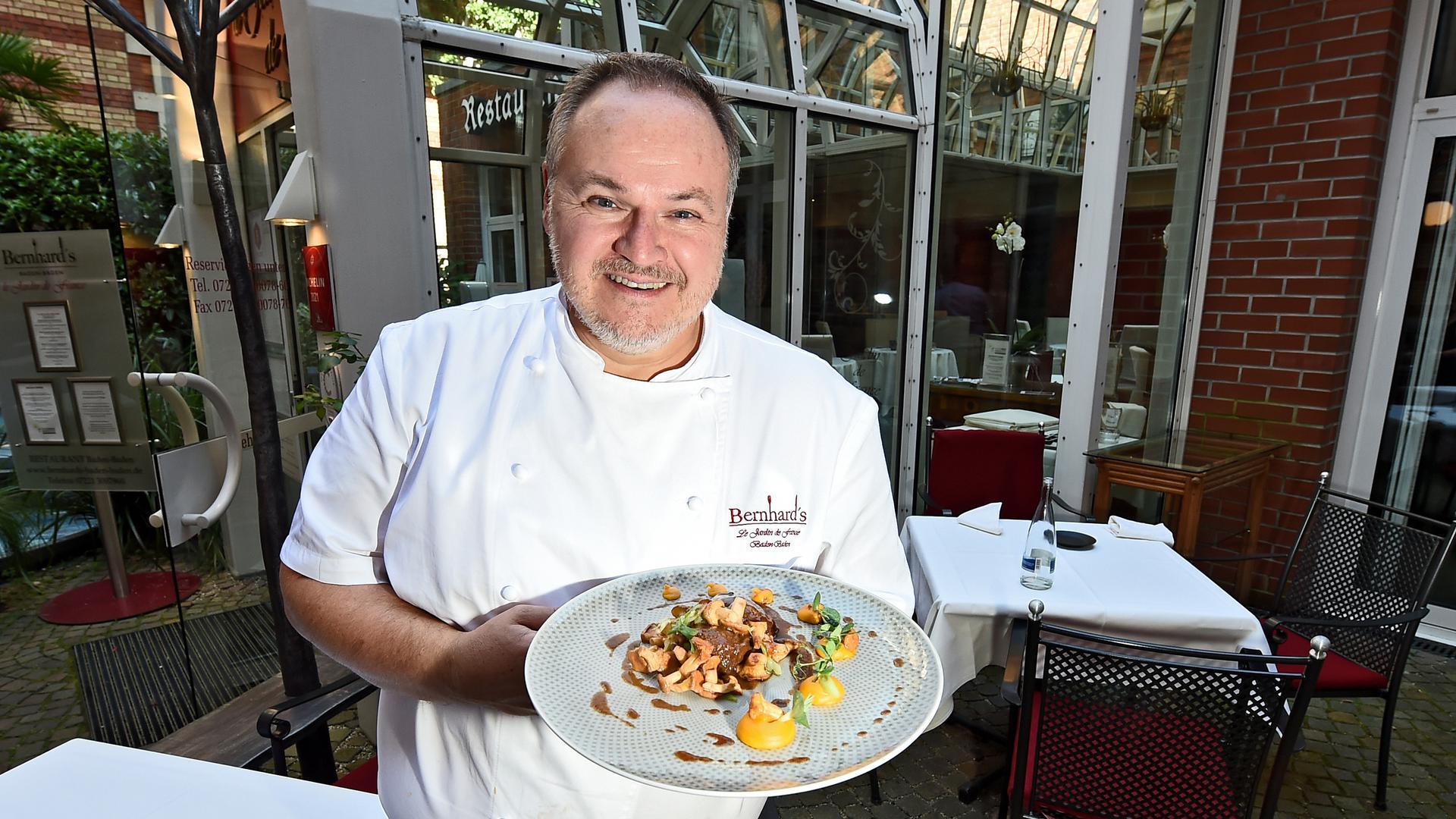 """02.09.2021 Restaurant """"Bernhard´s"""" Le Jardin de France in Baden-Baden. Sophie und Stéphan Bernhard"""